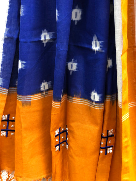 Pochampally Ikat Unstitched Suit Set