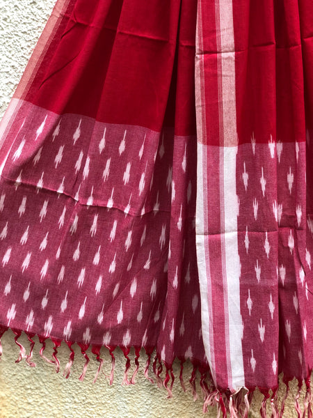 Pochampally Single  Ikat Dupatta Unstitched Suit Set