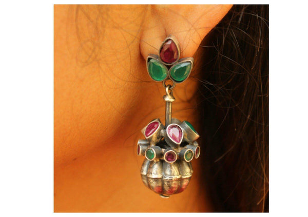 'Phool' tokri earrings. VA 04-CA1-RG