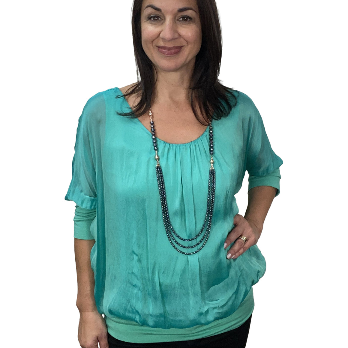 Capri Silk Top - L227 - choose your colour