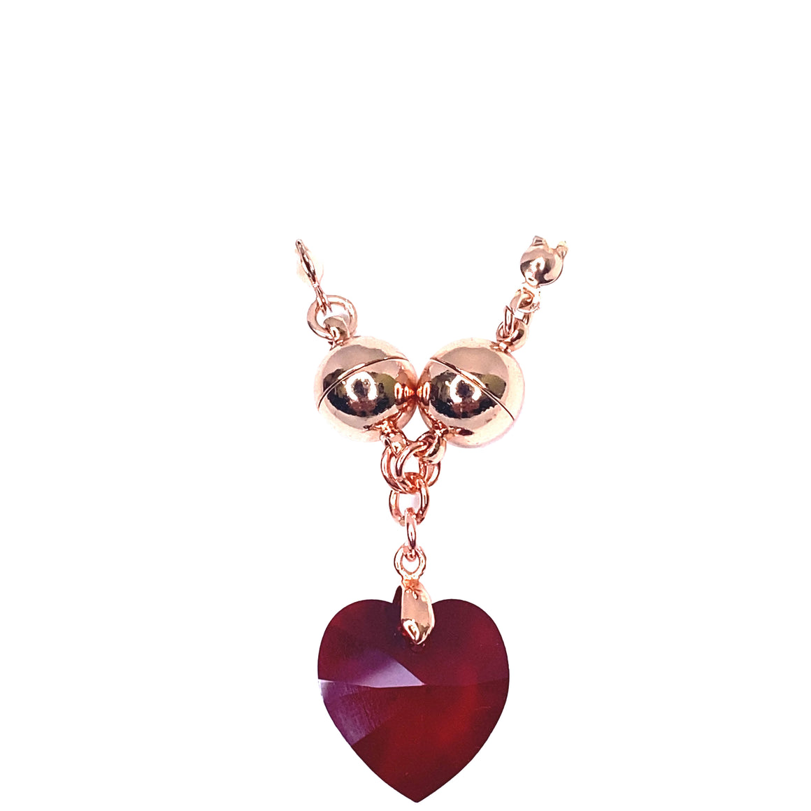 Mother's Heart Necklace - red - choose magnet colour