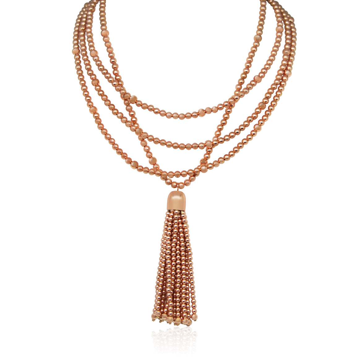 Satin Rose Gold Tassel