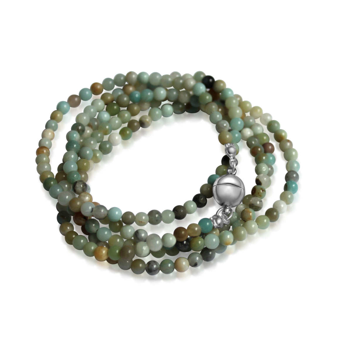 Long Strand Necklace - Amazonite - choose magnet colour