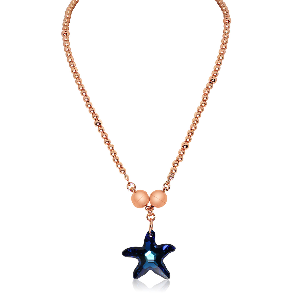 Starfish Pendant - Sapphire - choose magnet colour