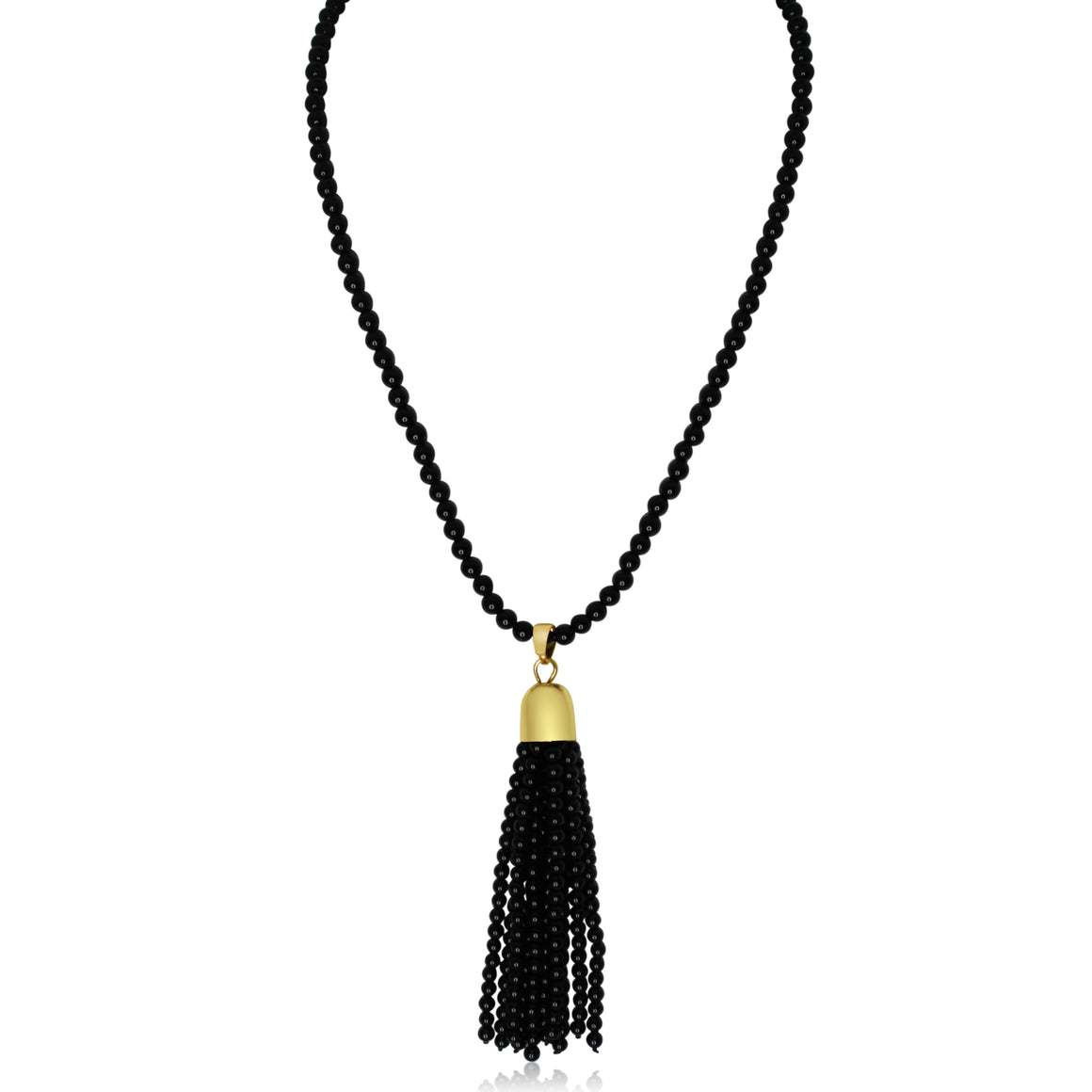 Tassel - Black Agate - choose magnet colour