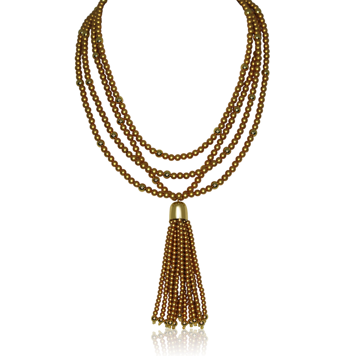 Tassel - Satin Yellow Gold Tassel with yellow gold magnets