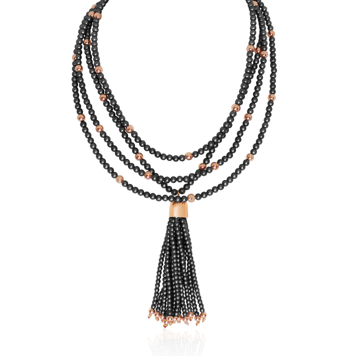 Gunmetal Tassel - Rose Gold