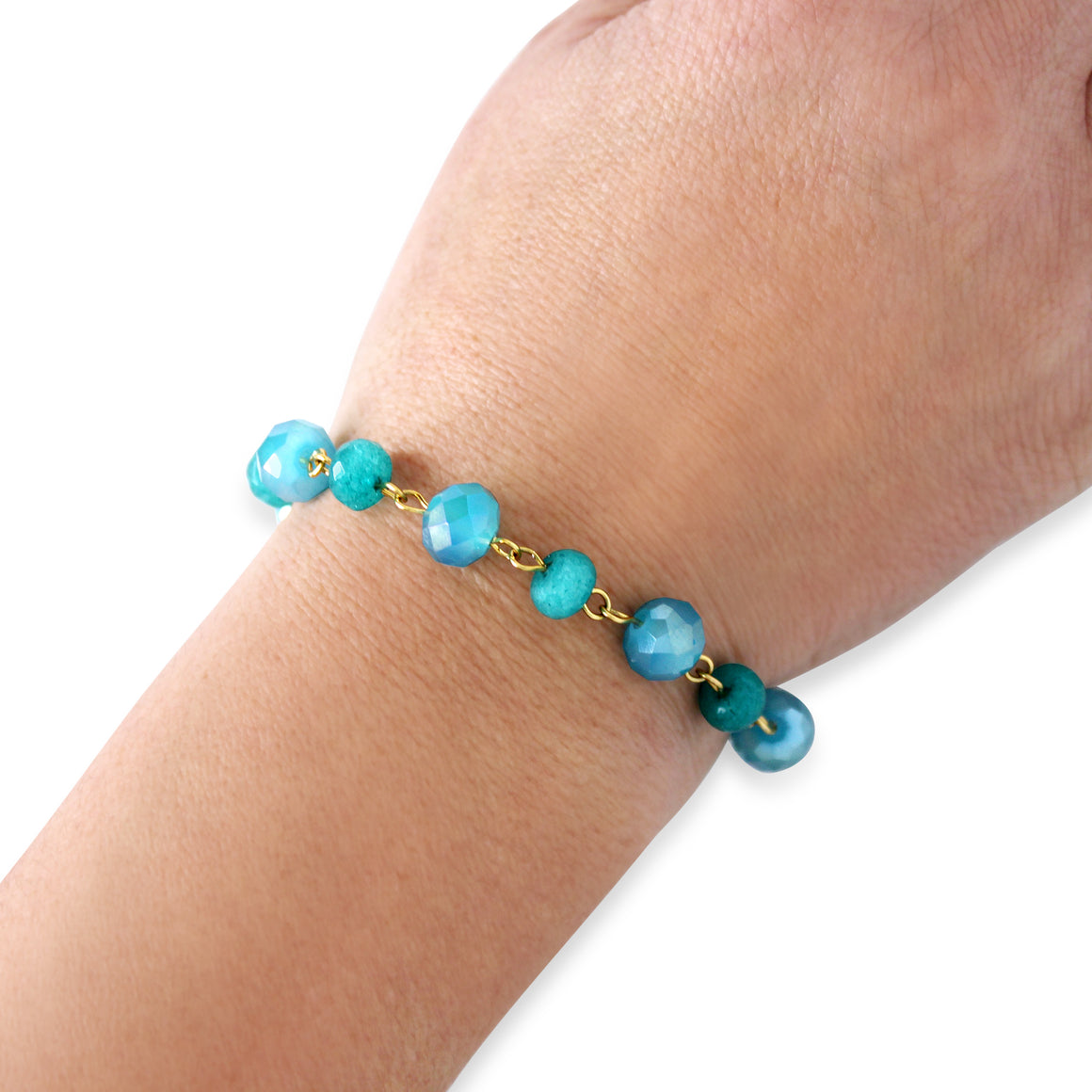 Bracelet Link - turquoise - choose magnet colour