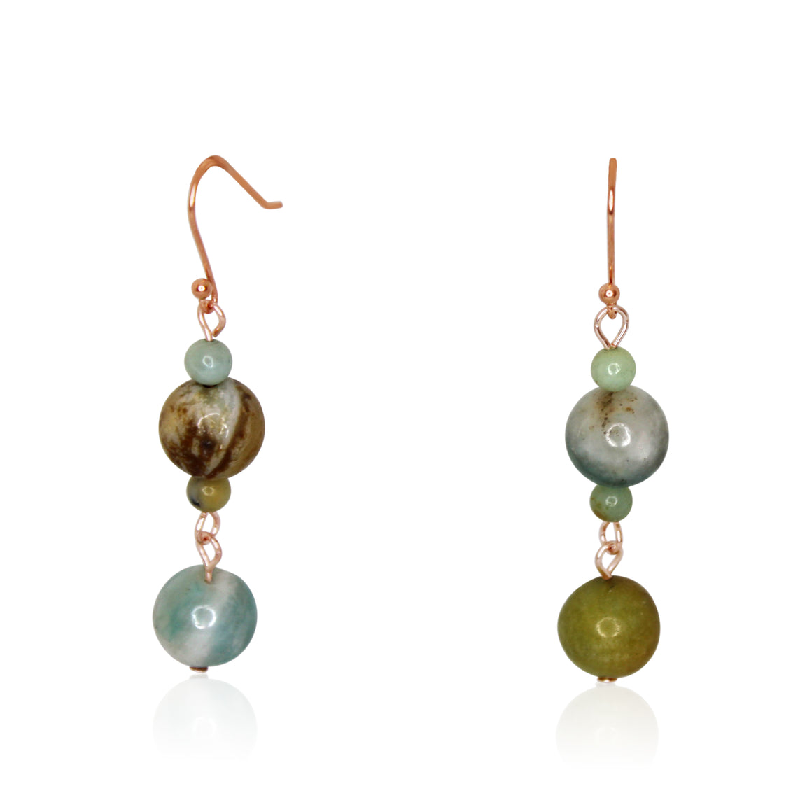 Long Earrings - Amazonite - choose hook colour