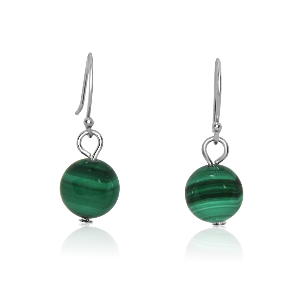 Short Malachite Earrings - Match 10 Way Necklace - choose hook colour