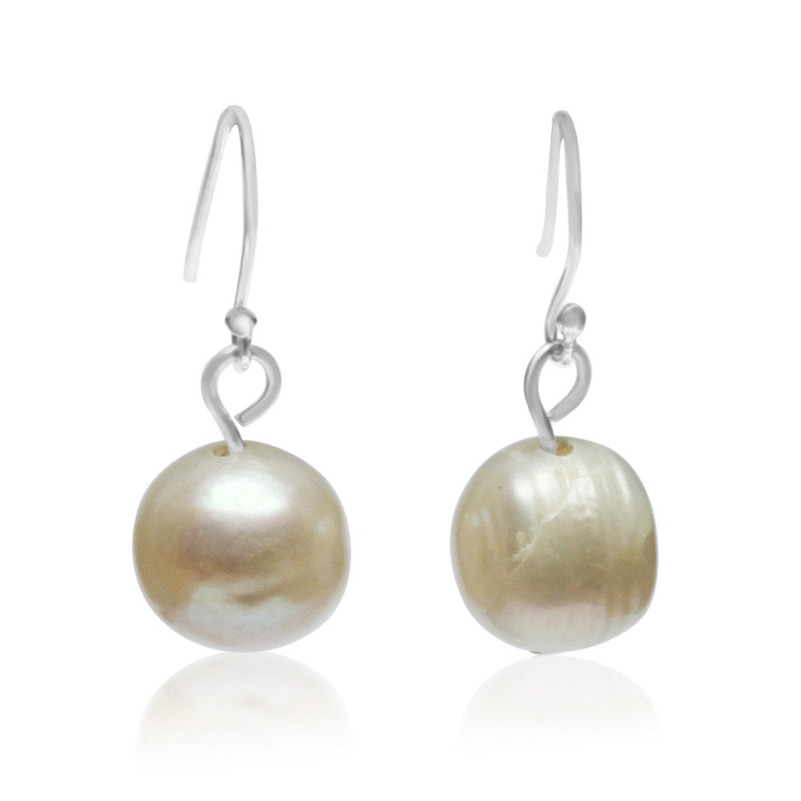 Cream Pearl Earrings - matching 10 Way Necklace - choose hook colour