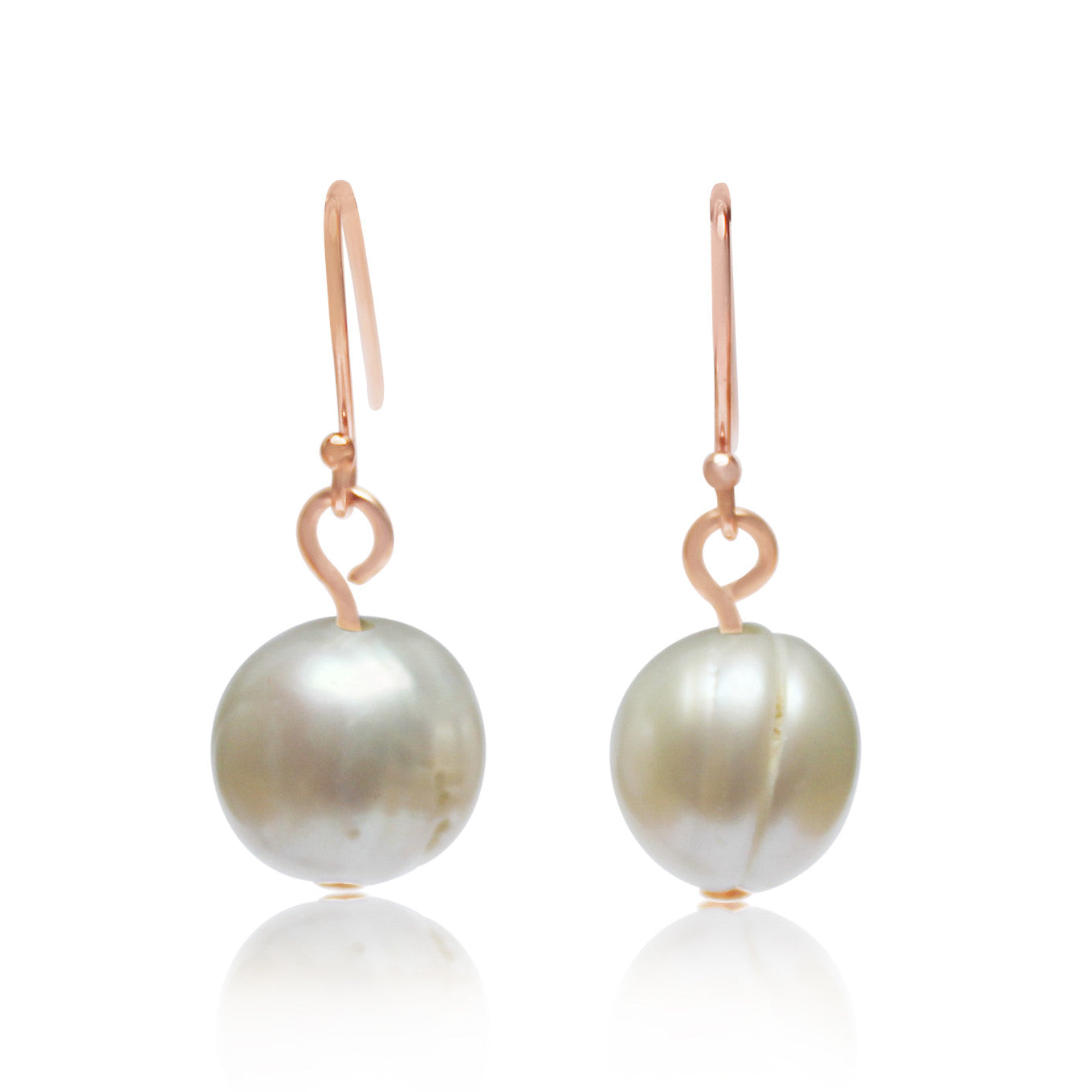 Pearl Earrings rose gold matches the Pearl 10 Way Necklace