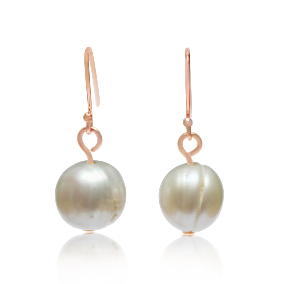 Pearl Earrings (rose gold) - matches the Pearl 10 Way Necklace with rose gold magnets