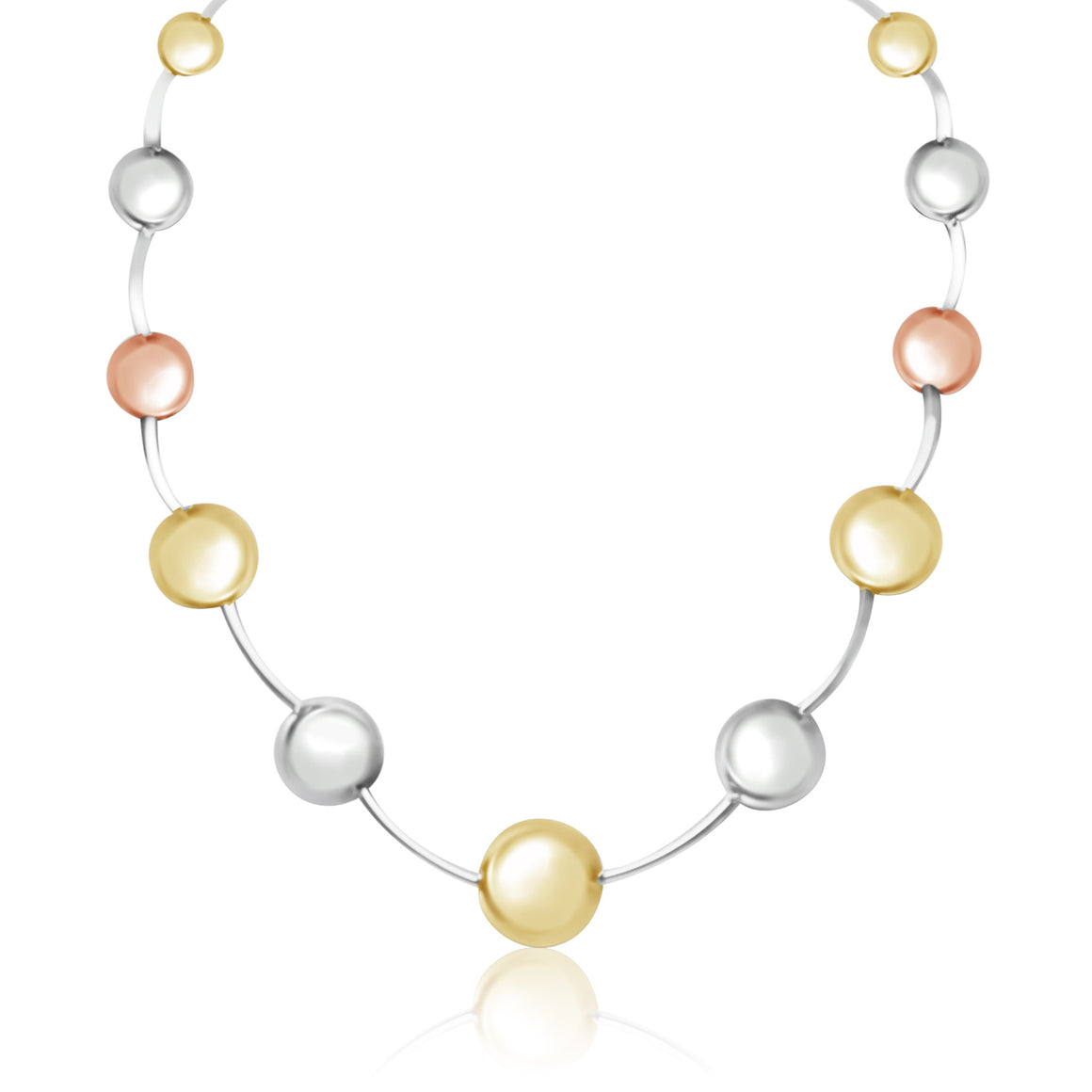 Tri Colour Ball Necklace