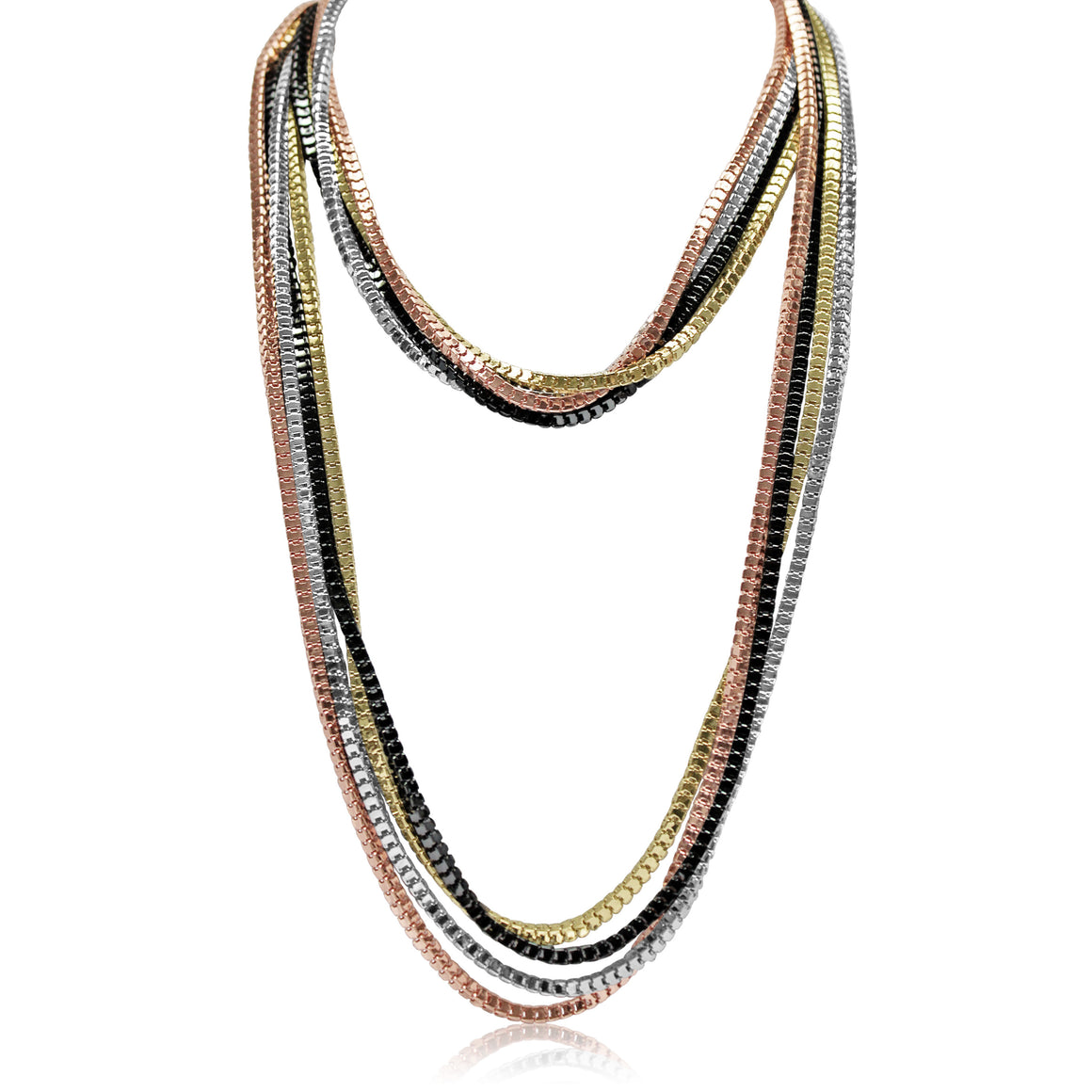 4 Colour Chain Necklace - DELIVERY EARLY JULY