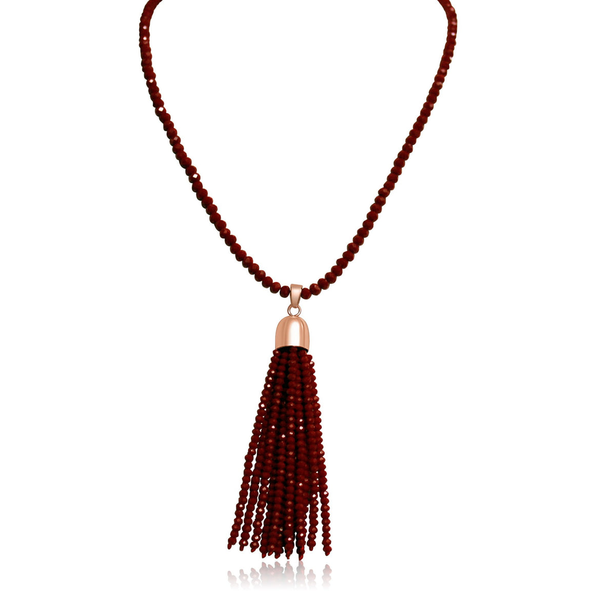 Crystal Tassel - Red Crystal - choose magnet colour