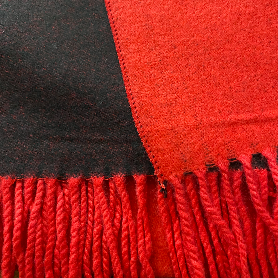 Winter Scarf - Red / Black (pre-order. Allow 2 weeks for fulfillment)