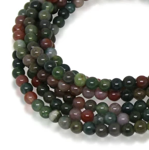 MEDIUM STRAND NECKLACE - Indian Agate - choose magnet colour
