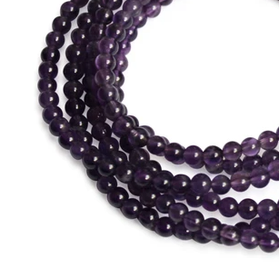 MEDIUM STRAND NECKLACE - Amethyst - choose magnet colour
