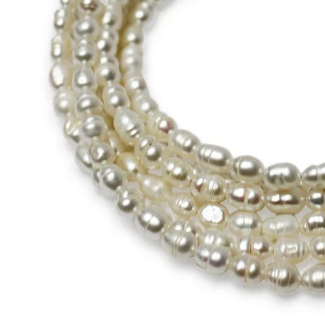 MEDIUM STRAND NECKLACE - Cream Pearls - choose magnet colour