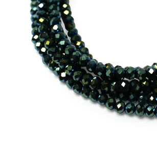 MEDIUM STRAND NECKLACE - Sea Green Crystal - choose magnet colour