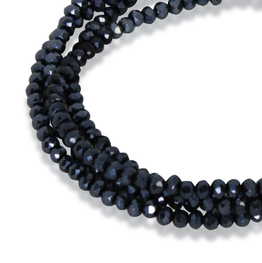 MEDIUM STRAND NECKLACE - Midnight Crystal - choose magnet colour
