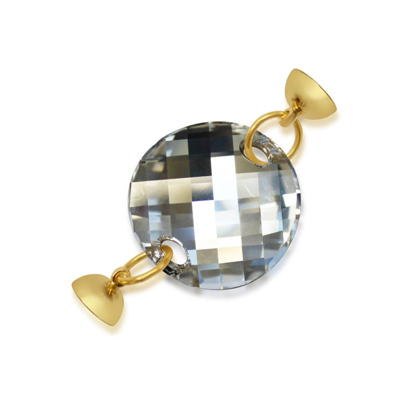 Clear Swarovski Crystal Pendant - choose magnet colour