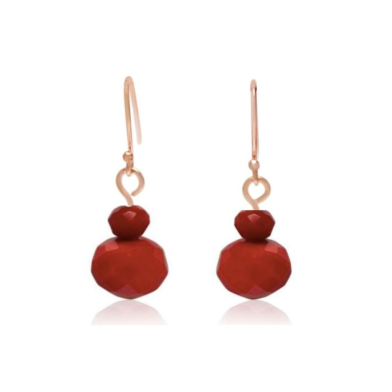 Red Crystal Earrings - choose hook colour