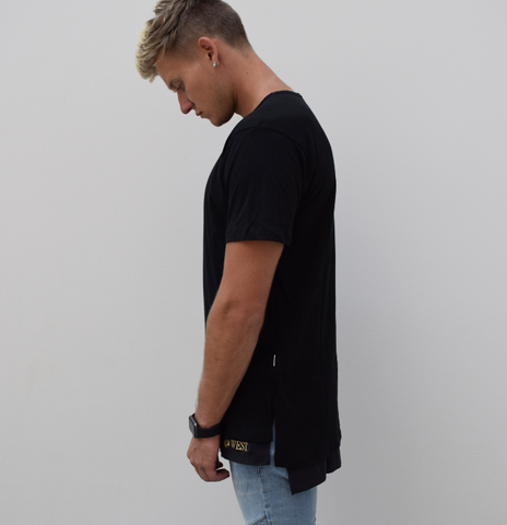 WEST. Faux Layer Square Bottom Tee