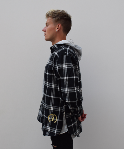 WEST. Side Zip Flannel