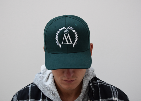 WEST. Forest Green & White Snapback