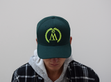 WEST. Forest Green & Neon Snapback