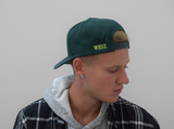 Forest Green & Neon Snapback