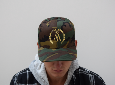 WEST. Camo & Gold Snapback