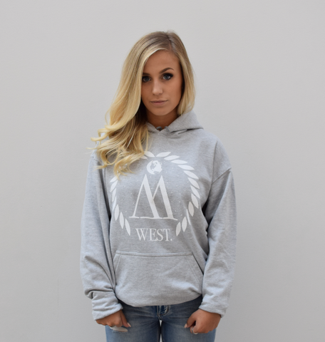 WEST. Women's Grey & White Pullover