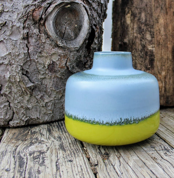 Blue and Green Stoneware Vase-homeware-Design Shoals