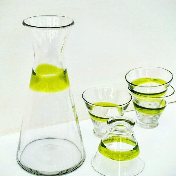 Glass Decanter and Glass Cocktail Tumblers-barware-Design Shoals
