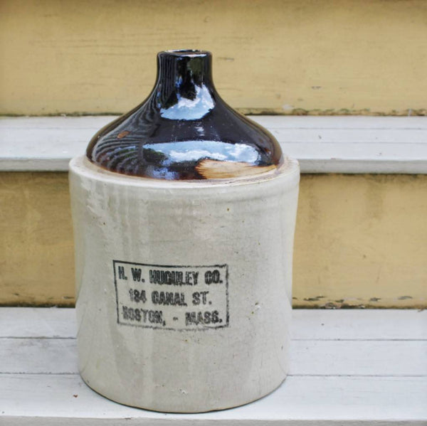 Antique Whiskey Jug - Stoneware Jug - Shop Display - Vintage Whiskey Jug - Whiskey Crock -  the design shoals