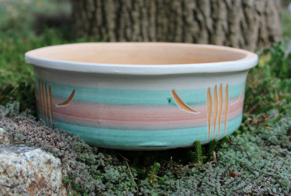 California Beach Succulent Planter - Lee's Pottery Planter - Vintage Paramount Pottery California - Southwestern Pot Indoor Planter -  the design shoals