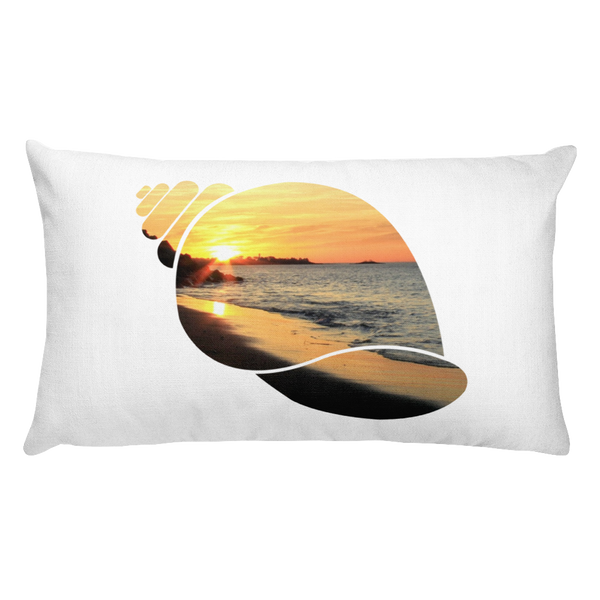 Rectangular Pillow Beverly Shell Sunrise -  the design shoals