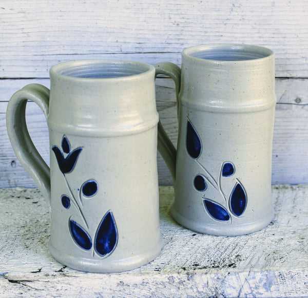 Williamsburg Pottery XL Mugs-Vintage Pottery-Design Shoals