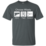 Choose Wisely Glock Paper Scissors T-Shirt