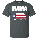 Mama Bear Plaid US Flag T-Shirt