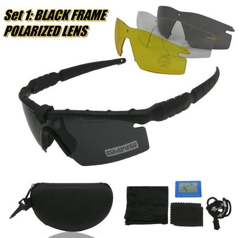 Military Tactical Sunglasses M Frame 4 Lenses Kit