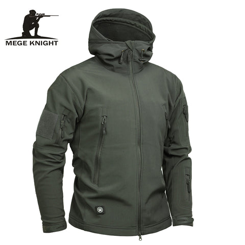 Men Tactical Sharkskin Camouflage Softshell Autumn Winter Outerwear