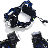 Head Lamp - 8000LM CREE XM-L T6 Zoomable Focus Head Lamp
