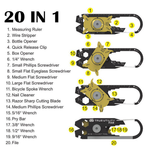 Pocket, Multi Tools - 20 In 1 Pocket Multi-Tool