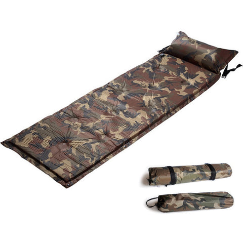 Outdoor Camo Air Mattress, Self Inflating Sleeping Pad