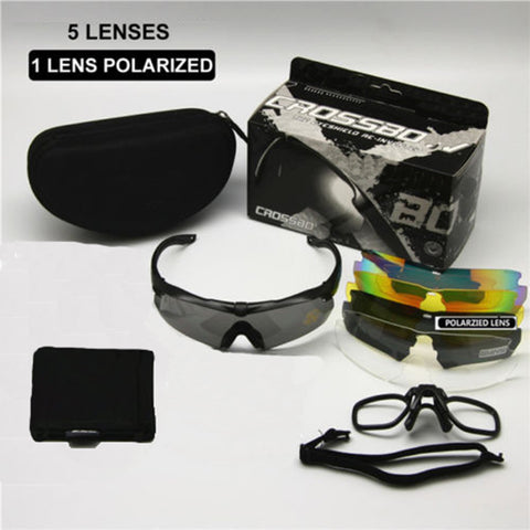 Polarized Military Sunglasses with 5 Lenses