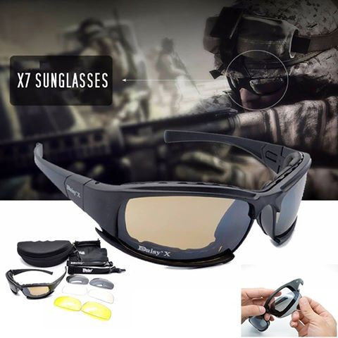 Sunglasses & Goggles - X7 Tactical Sunglasses Military Goggle With 4 Lens